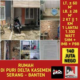 DIJUAL Rumah di Puri Delta Kasemen, Serang - Banten