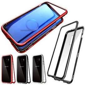 Case Samsung Galaxy S9Plus Magnetic 2in1 Glass Transparan Mewah