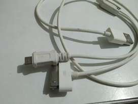 2 in 1 cable for andriod hai iphone 4
