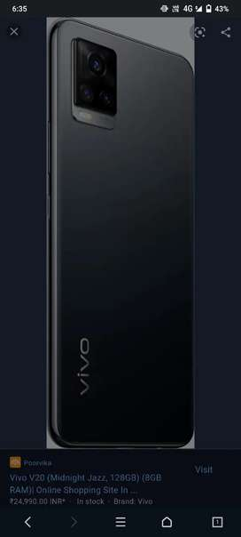 New vivo v20 only 2month old sell urgent