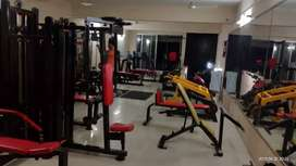All Gym Equipment with  Fully commercial Treadmill and Spin bike