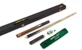 Riley England Ebony Series 3 - 3/4 Cut Snooker Cue & Case Set