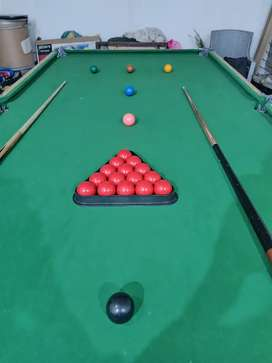 Snooker and 8 pool table