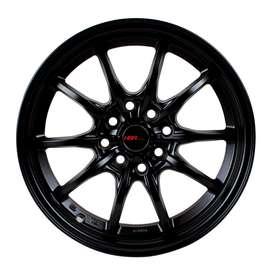 jual velg type HSR Japan 10423 Ring15X7 H8X100-1143 Semi Matt Black  2