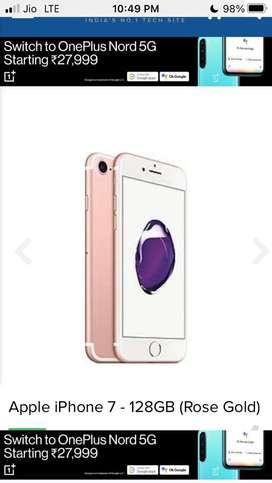 I phone 7 32 Gb rose gold