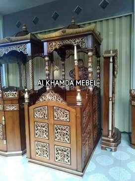Ready Mimbar Masjid Material Kayu Jati Berkualitas @583
