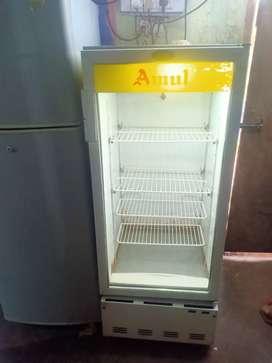 Voltas amul 220 liter display refrigerator is good condition