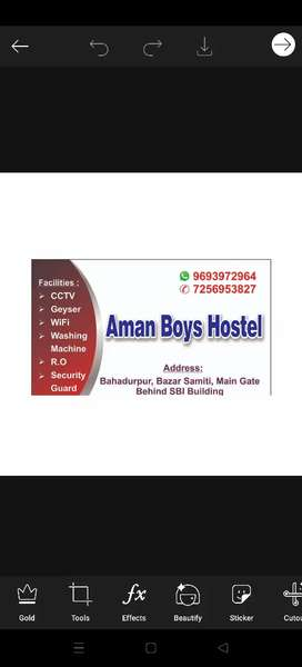 Boys hostel cook needed