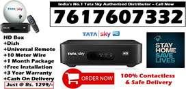 Today Offer! Tata Sky HD- Airtel Dish TV Dishtv Videocon- Tatasky DTH