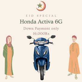 Get New Honda Activa 6G, Eid Special offer contact now