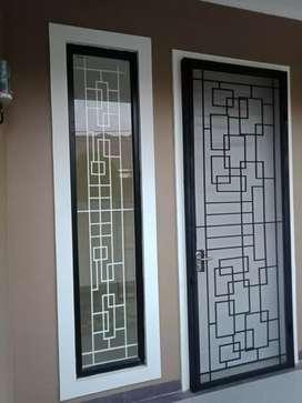 teralis jendela dan teralis pintu super elegan pengaman rumah