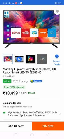 MarQ Smart LED TV 32inch 1 Year Warranty Offer Price