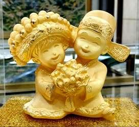 LuvDee Patung Pajangan 24K Pengantin oriental p727A