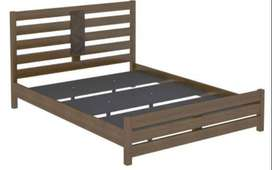 @home by Nilkamal -Queen Size Bed (Rubber Wood)