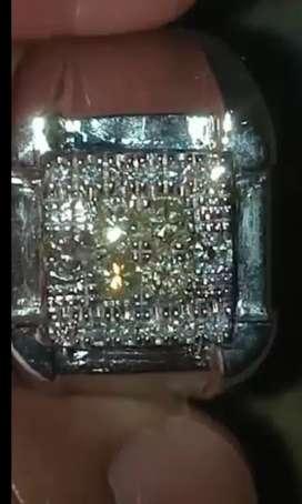 Cincin berlian tabur eropa