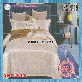 Bedcover Set Sutra Silk HS19-19 Siap Kirim Hingga Indragiri Hulu