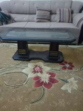 Drawing Room Glass Table with side tables
