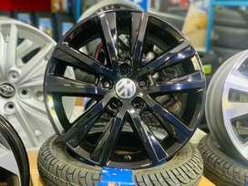 "15"" Volkswagen Polo GT OEM Alloys set of 4 Metallic Black"