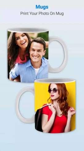 Photo printed mugs, key ring, t-shirt