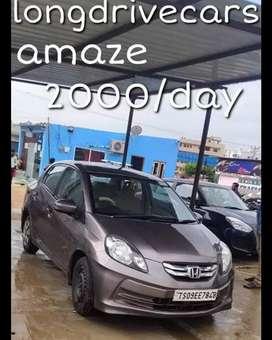2000/day Honda amaze Self Drive Cars