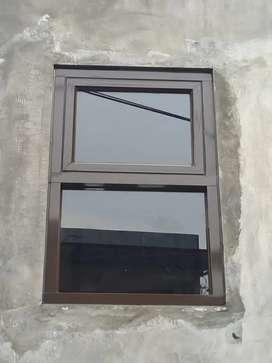 Ready stok jendela kaca aluminium bahan awet