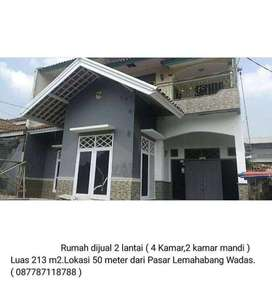 Dijual Rumah 2 Lantai dekat Pasar Lemahabang Wadas