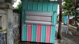 Dijual cepat!! Booth Container Baru Pakai 7 bulan, Bahan Solid dan Teb