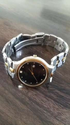 Luxury watch gold plated