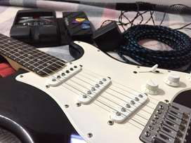 Frender Electric guitar with Rp 90 Guitar processer with Kadence Jacks