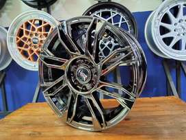 Velg Mobil R16 HSR SIRIUS Ring 16 Hole 8 Pcd 4x100-4x114,3 Chrome