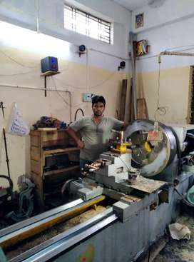 ITI or diploma candidate need for lathe work shop..