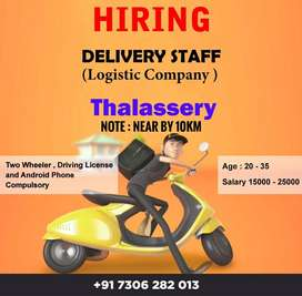 DELIVERY EXECUTIVE JOB THALASSERY