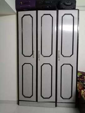 Wooden wardrobe storage cabinet pure saak wood