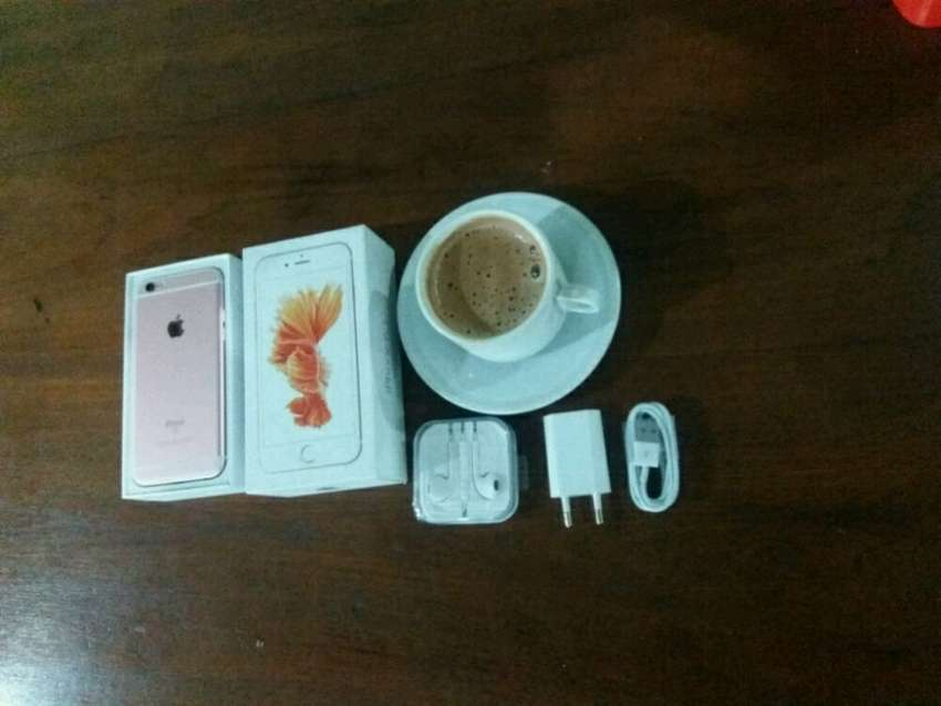 iphone 6s 64 gb fullset mulus banget no minus ex inter original 0