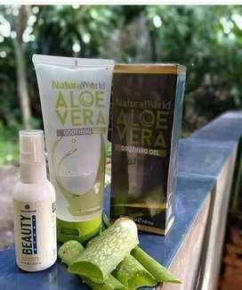 Skincare Natura (Natura Beauty Spray Serum dan Aloevera Pelembab)