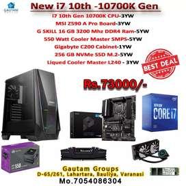 i7 10700K CPU Z590 A PRO board 16GB 3200mhz Ram 256gb SSD L240t cooler