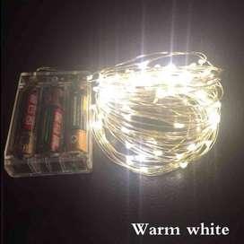 AyooDropship - Lampu Hias Dekorasi 50 LED 5 Meter Warm White - Warm Wh