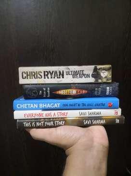 Novels from authors: savi sharma, chethan bagat, Chris Ryan, Dr who