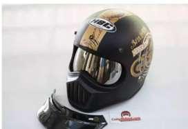 Helm Cakil HBC hitam Doff motif (2x pakai)