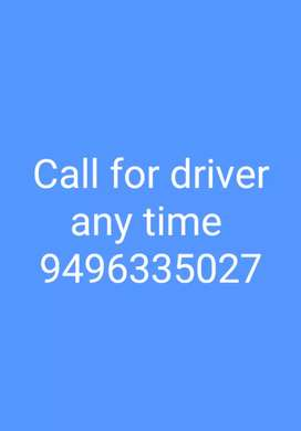Experienced driver for both manual and automatic cars, at any time