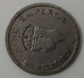 Old coins 1947 of freedom year from British  Government