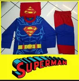 Setelan superman biru