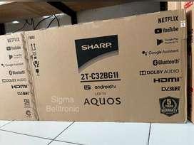 SMART TV LED 32 inch SHARP Android TV + Digital DVBT2 32BG1I