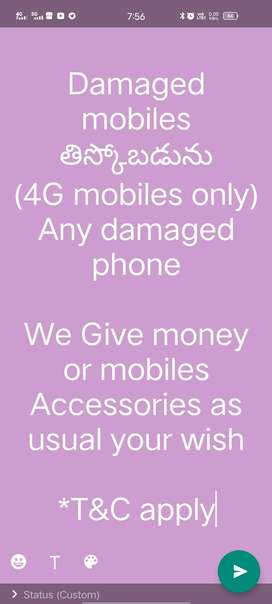 We are buying damaged mobiles