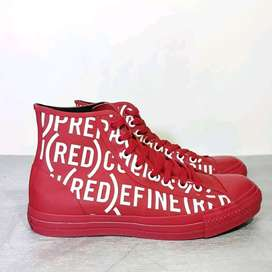 VERY RARE Converse high join Red    spesial edisi hari AIDS  Size:42.5