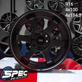 Tukar Tambah Velg Pelak Mobil Racing Ring 16 Untuk Agya ayla Sigra Dll