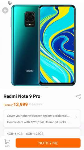 Redmi Note 9 Pro All Color 6GB 128GB Seal Pack