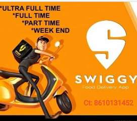 SWIGGY WANTED BIKERS FOR FOOD DELIVERY