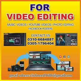VIDEO EDITING-PHOTO EDITING-SERVICES