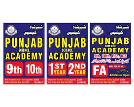 Chemistry teacher required in Punjab academy 9th ,10th, 11th, 12th.